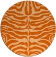 rug #275981   round red-orange animal rug