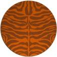 rug #275985 | round red-orange animal rug