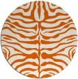 rug #275989   round red-orange animal rug