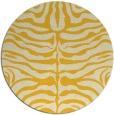 rug #276009   round yellow animal rug