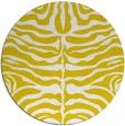rug #276021   round yellow animal rug
