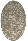 rug #280297 | oval beige popular rug