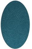rug #280345   oval blue-green natural rug