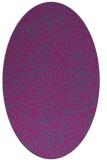 rug #280361 | oval pink natural rug