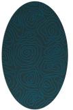 rug #280377   oval blue popular rug