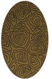 rug #280413 | oval mid-brown rug