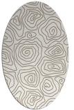 rug #280437 | oval mid-brown natural rug