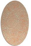 rug #280493 | oval beige natural rug