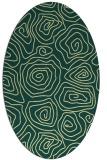 rug #280501 | oval yellow rug