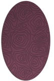 rug #280521 | oval purple natural rug