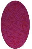 rug #280549 | oval pink natural rug