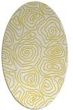 rug #280597 | oval yellow natural rug