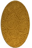 rug #280601 | oval light-orange natural rug