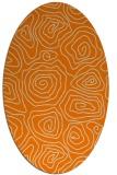 rug #280613   oval orange natural rug