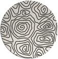 rug #281005 | round black natural rug