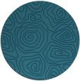 rug #281049 | round blue-green natural rug