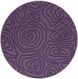rug #281097   round purple rug