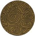 rug #281117 | round mid-brown popular rug