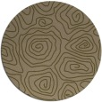 rug #281121 | round brown popular rug