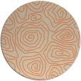 rug #281197 | round orange rug