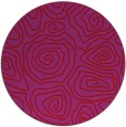 rug #281253 | round red natural rug