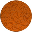 rug #281265 | round red-orange popular rug