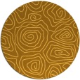 rug #281305 | round light-orange natural rug