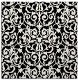 rug #281709 | square black damask rug