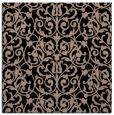 rug #281717 | square black damask rug