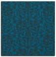 rug #281785 | square blue damask rug
