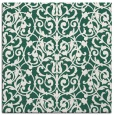 rug #281837 | square blue-green popular rug