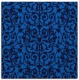 rug #281873 | square blue damask rug