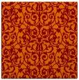 rug #281893 | square red-orange damask rug