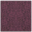 rug #281929 | square purple damask rug