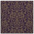 rug #281937 | square purple damask rug