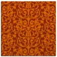 rug #281961 | square red-orange damask rug