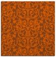 rug #281969 | square red-orange damask rug