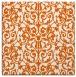 rug #281973 | square red-orange traditional rug