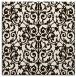 rug #282001   square brown damask rug