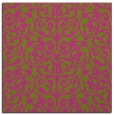 rug #282033 | square light-green traditional rug