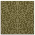 rug #282037 | square light-green damask rug