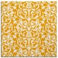 rug #282041 | square light-orange damask rug