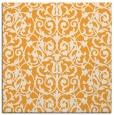 rug #282053 | square light-orange damask rug