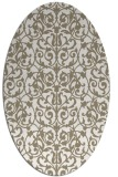 rug #282057 | oval beige traditional rug