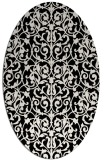 rug #282061 | oval white traditional rug