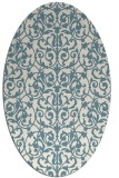 rug #282081 | oval white traditional rug