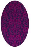 rug #282085 | oval blue damask rug