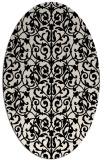 rug #282133 | oval blue-green rug