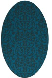 rug #282137 | oval blue traditional rug