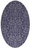 rug #282146 | oval damask rug